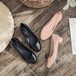 【Soervimy】 ラバーパンプス レインシューズ ヒール2.5cm 半透明 韓国ファッション レディース チャンキーヒール 雨 梅雨 ラバー 防水 594399546106