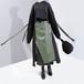モード系 ステッチ スカート アシンメトリー PUレザー レイヤー ハイウエスト 黒  アーミーグリーン 大人きれいめ  20代  30代 オルチャン