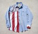 """STARS & STRIPES CHAMBRAY SHIRT"""