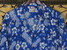 USA古着アロハシャツXL青Monticerutti花柄レーヨン極美 水の流れ