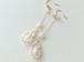 白珊瑚ドロップピアス