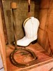 USED HORSESHOE(馬蹄) CANDLE HOLDER