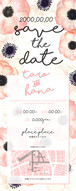 〈セミオーダー〉SAVE THE DATE flower01
