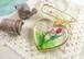チューリップの季節のカブトピンブローチ(ハート)