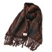 RUDE GALLERY BLACK REBEL NATIVE PATTERN MUFFLER BROWN/CAMEL