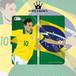 iPhone全機種対応 手帳型スマホケース ブラジル ネイマール