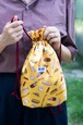 ジャンク・フードの巾着バッグ