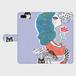 手帳型iPhone Plusケース「ハートのハミング」