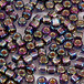 日本製シードビーズ、サイズ8/0、Purple AB