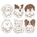 ダルマサンイラスト/犬猫、ペットうちの子似顔絵