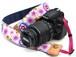 カメラストラップ 4㎝巾 一眼レフ用 片面 紅型デザイン さくら ピンク