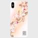 桜金魚プリント<珊瑚色>強化ガラススマホケース