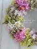 紫陽花と千日紅のリース/直径24cm/プリザーブド&ドライフラワー/【お届け日指定可能】/【即日発送】