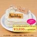 ワンちゃん用特製バースデーケーキ+ご希望のお名前入れ