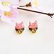 【春限定】◇夜桜◇桜色の猫とスワロビジューのピアス/イヤリング