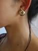 dead stock spiral earrings