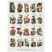 アート ポスター A4 サイズ KOUSTRUP & CO. - Edible mushrooms 食用可能なマッシュルーム