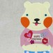 【BIRTHDAY PORORI CARD】ハート(うすピンク)