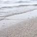 砂浜の波打ち際(ローアングル)