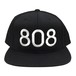 808 Snapback Cap Black 6Panel - iDonStore