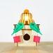 「鏡餅&三方」木製フロアランプ