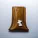 シュナウザーがワンポイントの陶器のペンスタンド