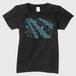 SaKuRa 黒/ブルー レディースTシャツ