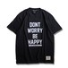 Don't Worry T-shirt -Black