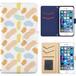 Jenny Desse Qua phone QX KYV42 ケース 手帳型 カバー スタンド機能 カードホルダー オレンジ(ブルーバック)