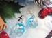 ホワイトクリスマスベルを閉じ込めた聖夜のピアス(サークル)