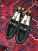 GUCCI LEATHER HORSE BIT LOAFER MADE IN ITALY/グッチレザーホースビットローファー