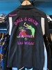 S/Sボーリングシャツ LAS VEGAS ブラック HOUSTON