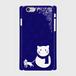 スマホケース SnowCAT【インディゴ】ハードケース iPhone/Android