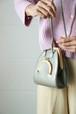 Silver mini shoulder bag
