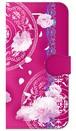 【iPhone6/6s】 Peony Dream 芍薬の夢 フューシャピンク 手帳型スマホケース