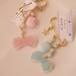 【リンゴノアメ】宝石ブローチ