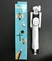 新型 白 2017年最新バージョン 三脚 リモコン シャッター付き 自撮り棒