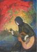 太久磨「ギターを練習する女の子」