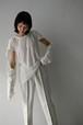 ERiKOKATORi / backless linen T-shirts (white)