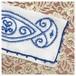 ヴィンテージリネン カトラリーケース ポーチ 刺繍 ブルー