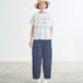 tumugu: ラフィ天竺 ロゴプリントTシャツ