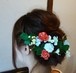 クローバーとマムとフリルローズのヘアーパーツ
