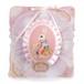 荷物が多い日も使える「アリスなうさぎ」 斜め掛け 四角い大きなバッグ ピンク
