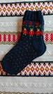ラトビア 手編み靴下 17㎝