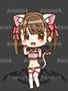 猫水着ちゃん_白_XL