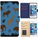 Jenny Desse iphone 6/6S plus ケース 手帳型 カバー スタンド機能 カードホルダー ブルー(ブルーバック)
