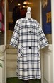 VINTAGE jacquard check coat
