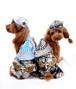 ★かわいい犬服ワンピ/ドレス  Cocker papa ウィング デニム スカート