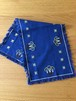 北欧 ロウソクと星の刺繍のロングクロス ヴィンテージ