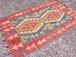 ヴィンテージ キリム 78cm×117cm 手織り ラグ カーペット